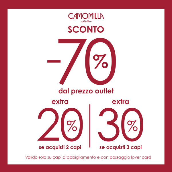 Discounts 70% + extra 20% on 2 items and extra 30% on 3 items